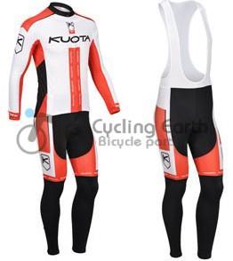 KUOTA 2013 team long sleeve autumn wear clothes bicycle bike riding cycling jersey bib pants MTB racing set ropa ciclismo