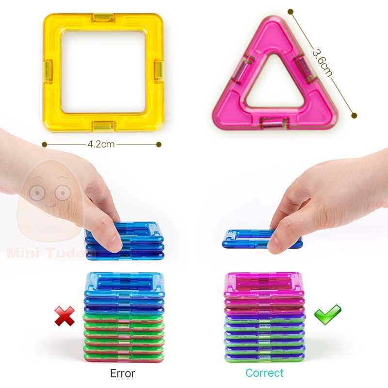 52-106 шт маленькие магнитные детали образовательное строительство набор модели и строительные игрушки АБС магнит дизайнер детский подарок