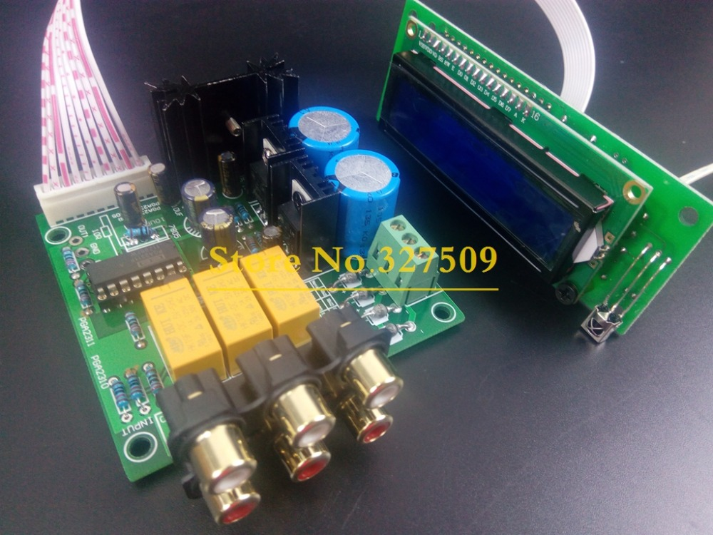Mshow Stereo PGA2311 DIP16 HIFI Remote Volume Control Preamp pre-amp  preamplifier board audio DIY kit or assembled free shpping