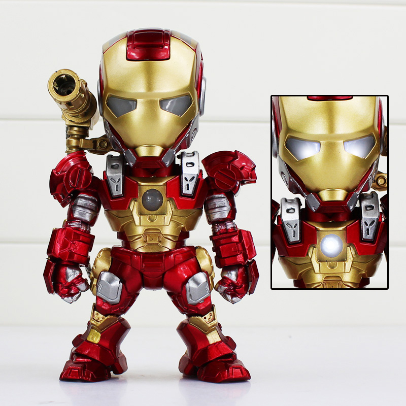IRON MAN Light-Emitting Function Black Gold Iron Man Helmet Action Figure  Mark 3 Action Figure Collectible Toys