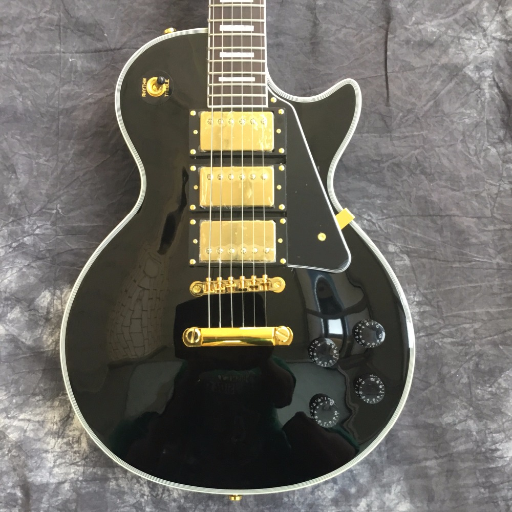 New Lp Custom Electric Guitar SHOP Electric Guitar / beaty black / 3 pickups / Guitar In China In stock стоимость