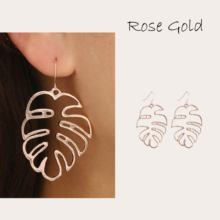 Charm Hollow Leaves Metal Rose Gold/Silver Stud Earrings  For women 2019 Beautiful Wedding Engagement Delica Jewelry