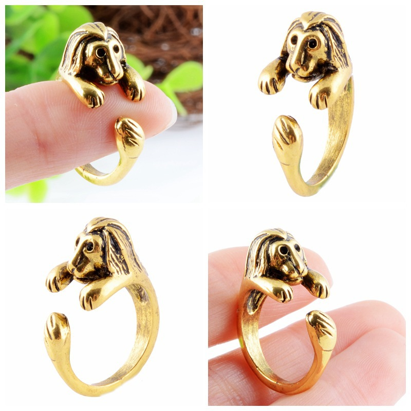 Lovely Lion Rings For Women Fashion Trend Animal Rings Jewelry Friend Gifts Open Adjustable Rings Black Friday 2016