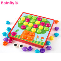Bainily 3D DIY Puzzle Young Children To Enlighten The Toy Button Painting 3D Puzzle Nail
