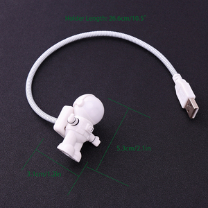 Image 4 - New Style Cool New Astronaut Spaceman USB LED Adjustable Night Light For Computer PC Lamp Desk Light Mini Reading Lamp White