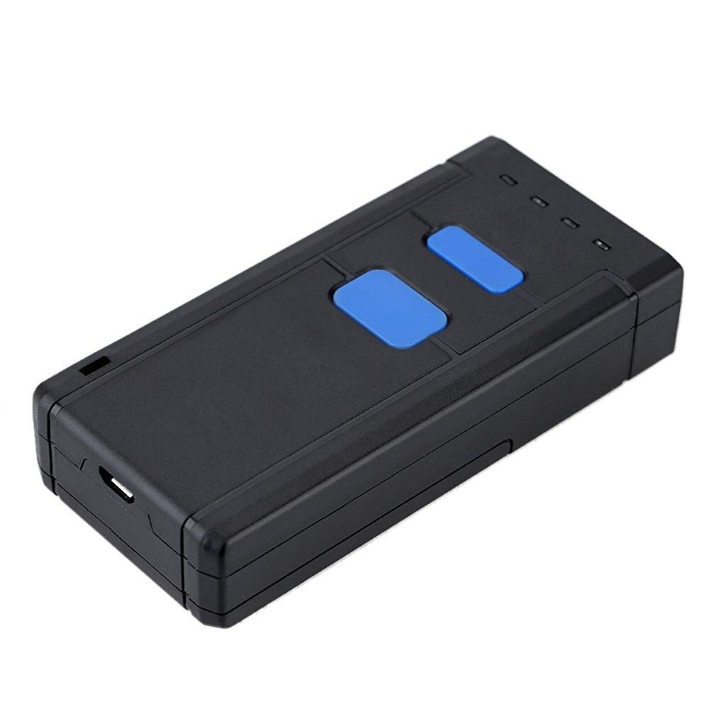 Мини Беспроводной штрих-код Bluetooth Сканеры штрих Сканеры ccd считывания штрих-кодов Портативный Беспроводной один размер красный свет