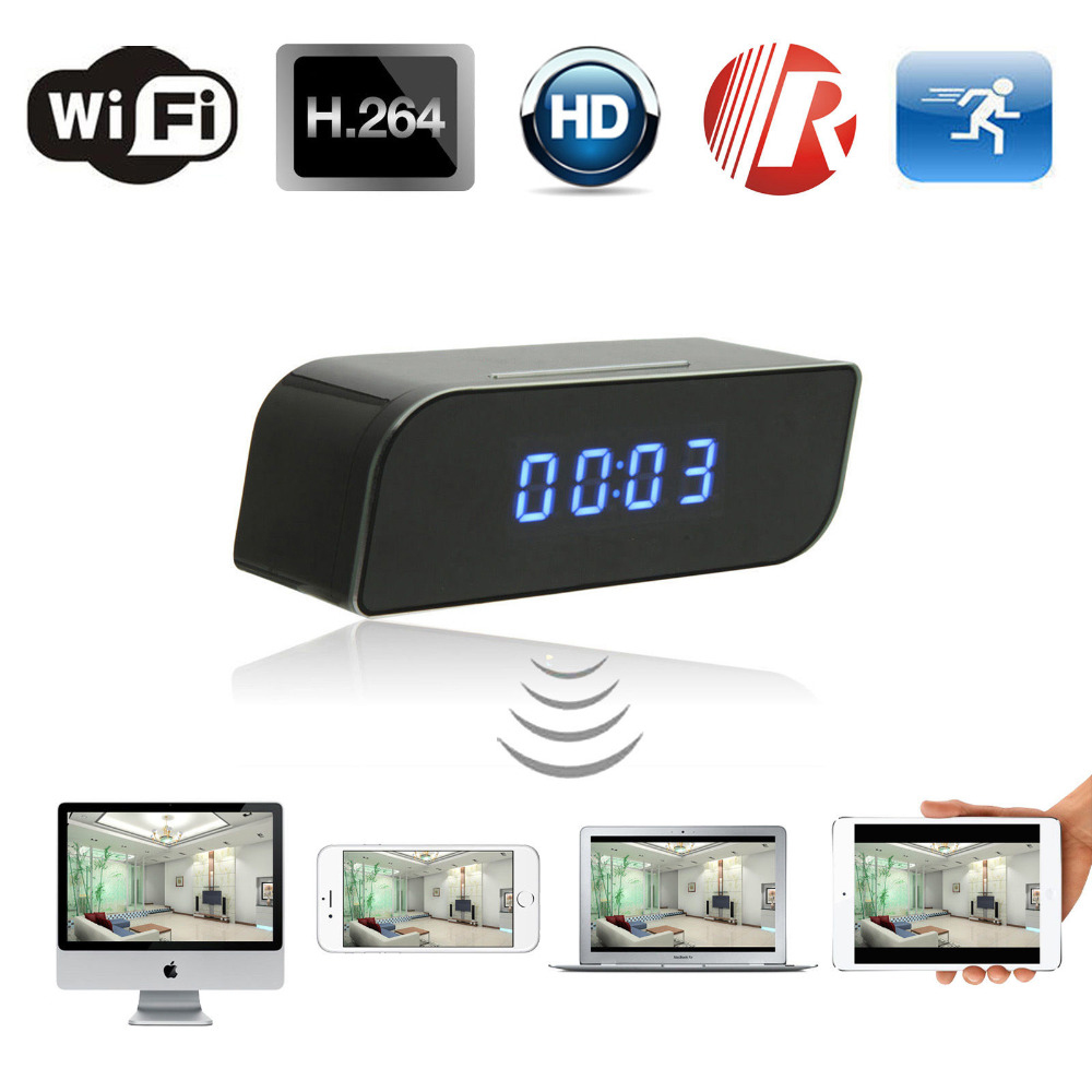 Micro Wifi IP Camera HD 1080P Clock Mini Camcorder Wireless Video Recorder Security Digital Cam Motion Detection Sensor hd 1080p wifi camera with time display electronic clock dv camcorder p2p motion detection mini ip camera video recorder