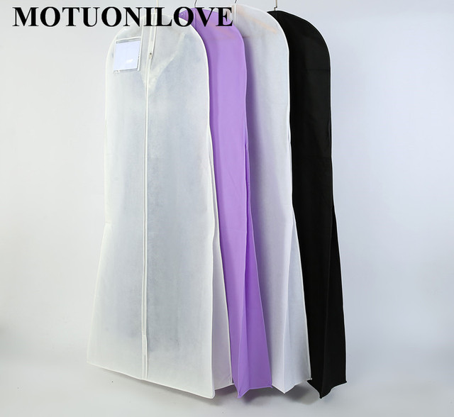 Length 180cm For Wedding Dress Bag Clothes Cover Dust Cover Garment ...