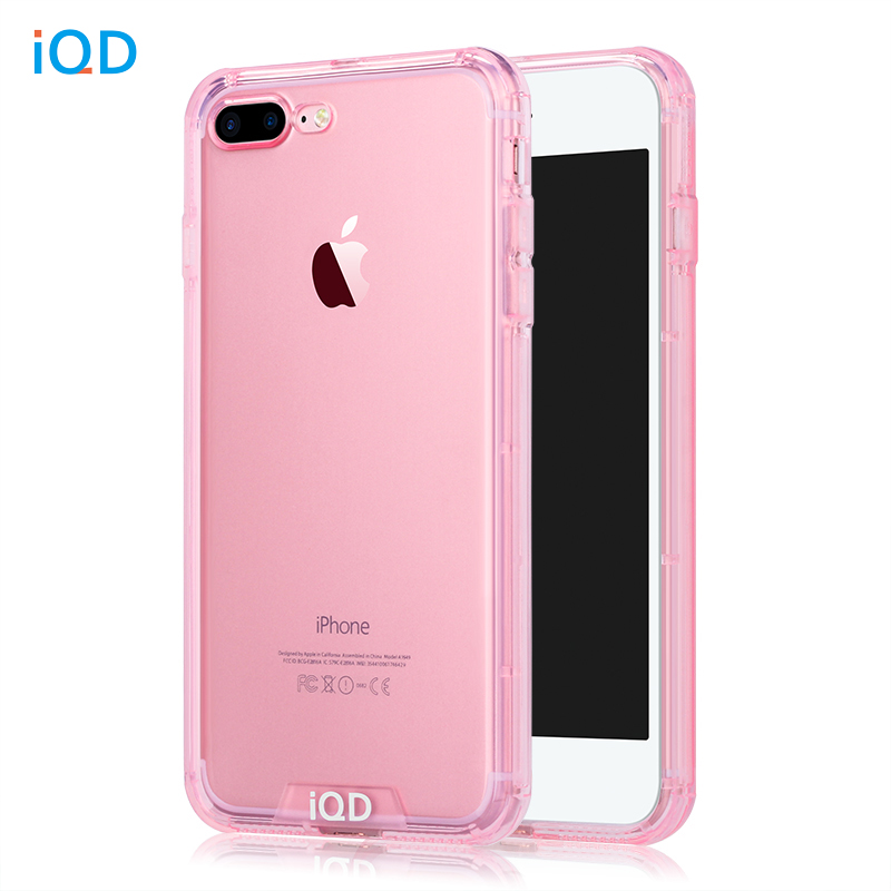IQD Bumper Case For iPhone 8 7 plus deksel TPU Anti-Scratch stiv, tynn beskyttende rygg Slitesterk mobiltelefon til iphone 6 6s Vesker