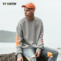 VIISHOW Hoodies Men S Striped Print Sweatshirt Men Hoodies Fashion Solid Hoody Men Pullover Men S