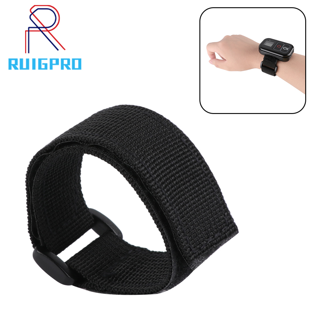 Wrist Strap Mount Belt Hand Band Adjustable Waterproof Velcro for GoPro Hero 7 6 5 4 3 Wi Fi Remote Controller in Sports Camcorder Cases from Consumer Electronics