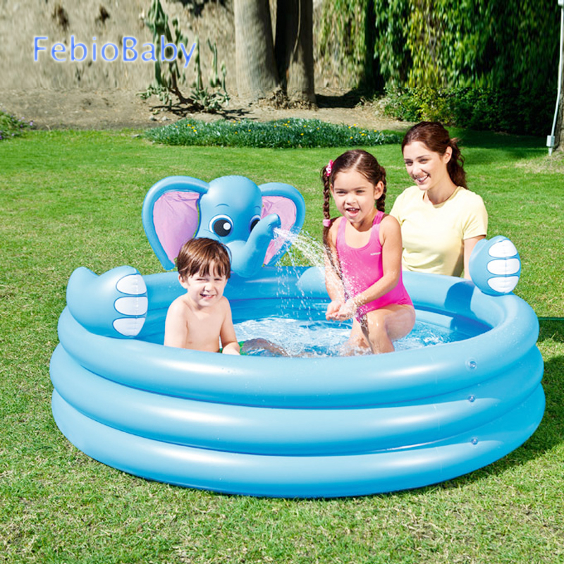 Summer Baby Fun Play Elephant Water Park Pools Spray Water 3 Layers Inflatable Animal Pool For Outdoor Garden Infant Swimming