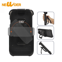 NEWOER Case For IPhone X Phone Cover With Holder 360 Degree Rotation Clip ABS Surface Sports
