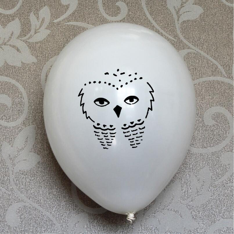 15 White Owl Latex Balloons Balloons Great for a Magical 7th <font><b>8th</b></font> 9th 10th 11th 12th <font><b>Birthday</b></font> party Decorations Shower supplies image