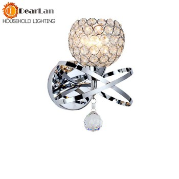 Modern Style Bedside Wall Lamp Bedroom Stair Lamp Crystal Wall Lights E27 LED Wall Lights Silver/Gold Led Lamp For Bedroom Decor фото