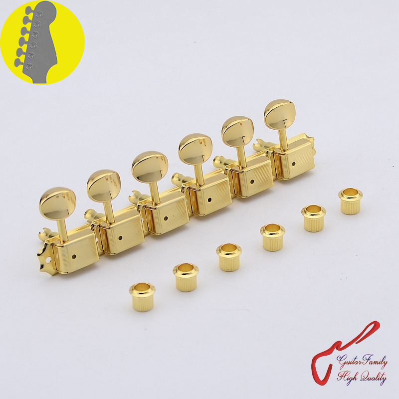 Original Genuine 6 In-line GOTOH SD91-05M Kluson Vintage  Guitar Machine Heads Tuners  ( Gold ) MADE IN JAPAN 1 set guitarfamily 6 in line kluson vintage guitar machine heads tuners nickel made in korea