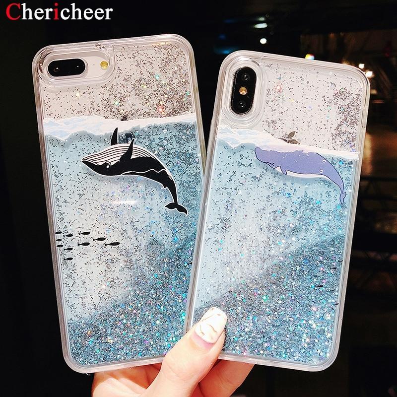 Phone Bags & Cases Whale Dolphin Liquid Case For Xiaomi Mi 9 Mi9 6x Mi8 Se Mi 8 Lite Case Pocophone F1 Case Mi A2 Lite Glitter Sand Quicksand Cover