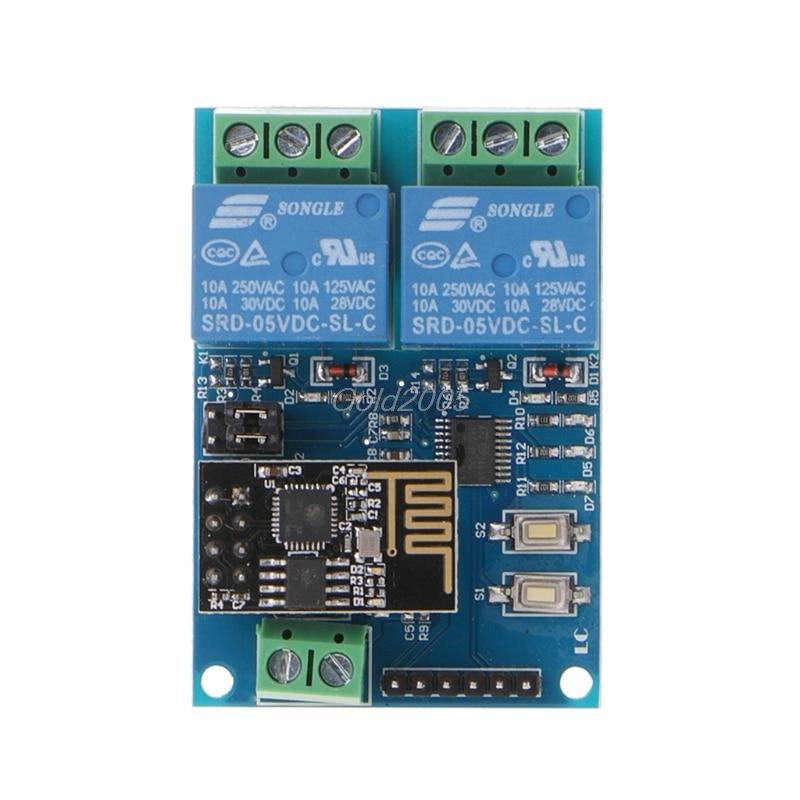 WIFI Relay Module ESP8266 IOT APP Controller 2-Channel For Smart Home 5V G25 Drop ship remote controller signal booster module diy module in built non destructive installation for futaba 14sg jr xg6 rc drone f18732