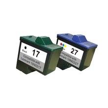 Para lexmark 17 27 cartucho de tinta para lexmark i3 z13 z23 z34 x1150 x1270 x2250 x75 z515 z517 x1100