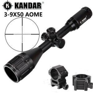 KANDAR 3-9x50 AOE Mil-dot Reticle RifleScope Locking Resetting Full Size Hunting Rifle Scope Tactical Optical Sight(China)