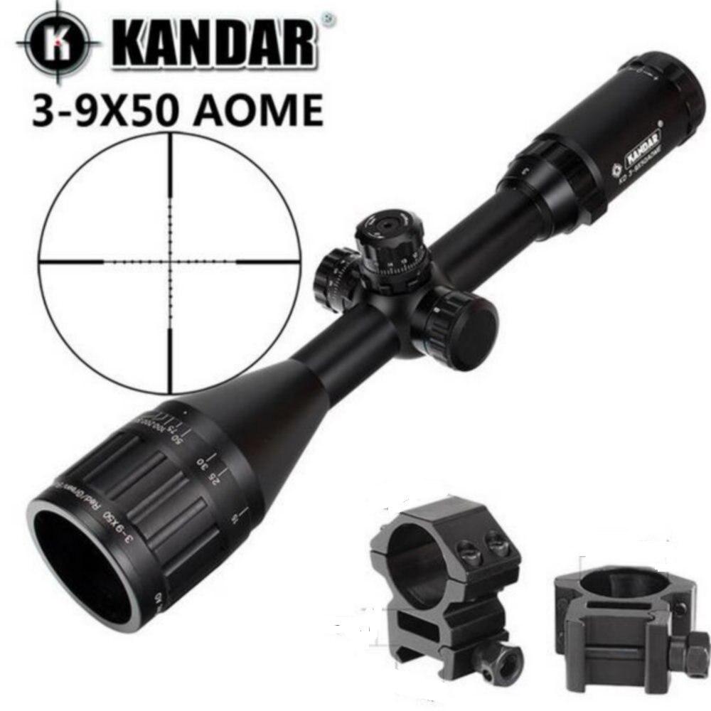 KANDAR 3-9x50 AOE Mil-dot Reticolo Cannocchiale Chiusura Reset Full Size di Caccia Portata Del Fucile Tattico di Vista Ottico
