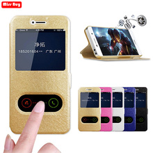 Leather Flip Cover Window View Magnetic Case For Samsung galaxy A3 A5 A7 A8 2015 2016 2017 A320 A520 A720 A5 A7 2018 A810 Case