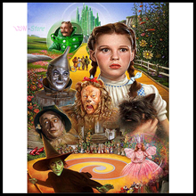 "Full Square/Round Drill 5D DIY Diamond Painting ""The wizard of OZ poster"" Embroidery Cross Stitch Mosaic Home Decor Gift NEW728"