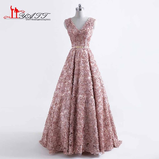9dacc637129 2018 Spring New Vestido De Festa Luxurious V neck Formal Evening Dresses  with Gold Sashes Court Train Evening Party Dress