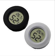 1pcs Mini LCD Digital freezer reptile aquarium breeding kennel embedded electronic digital thermometer Humidity Meter detector