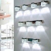 מודרני led קריסטל פמוט קיר מנורות תאורת מראה בחדר אמבטיה Led יהירות אמבטיה בסלון חדר שינה אור 110 V/220 v/240 v