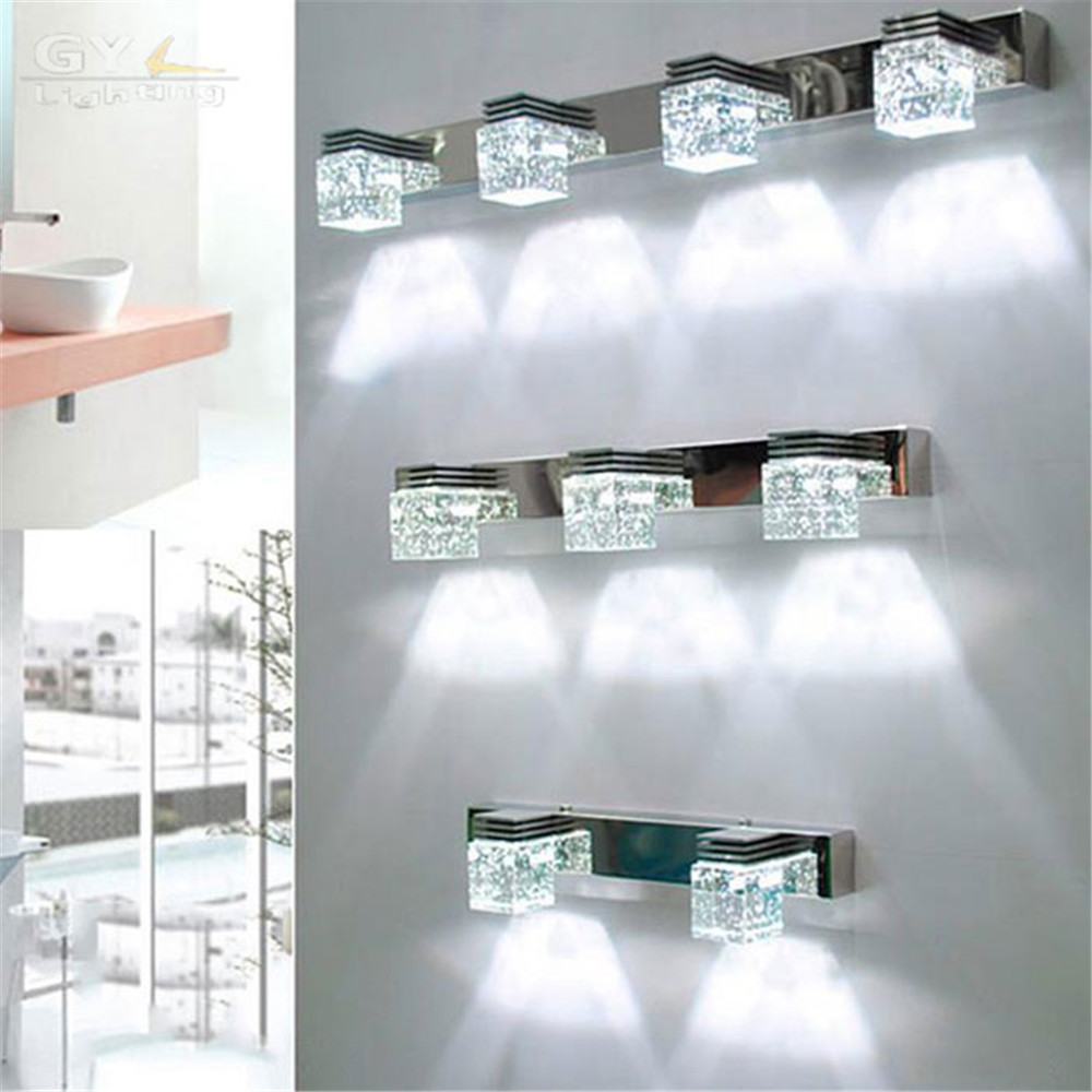 moderna crystal led di illuminazione specchio del bagno lampade applique da parete a led in camera