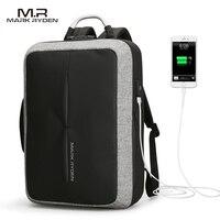 2018 Mark Ryden New Anti Thief USB Recharging Men Backpack NO Key TSA Lock Design Men