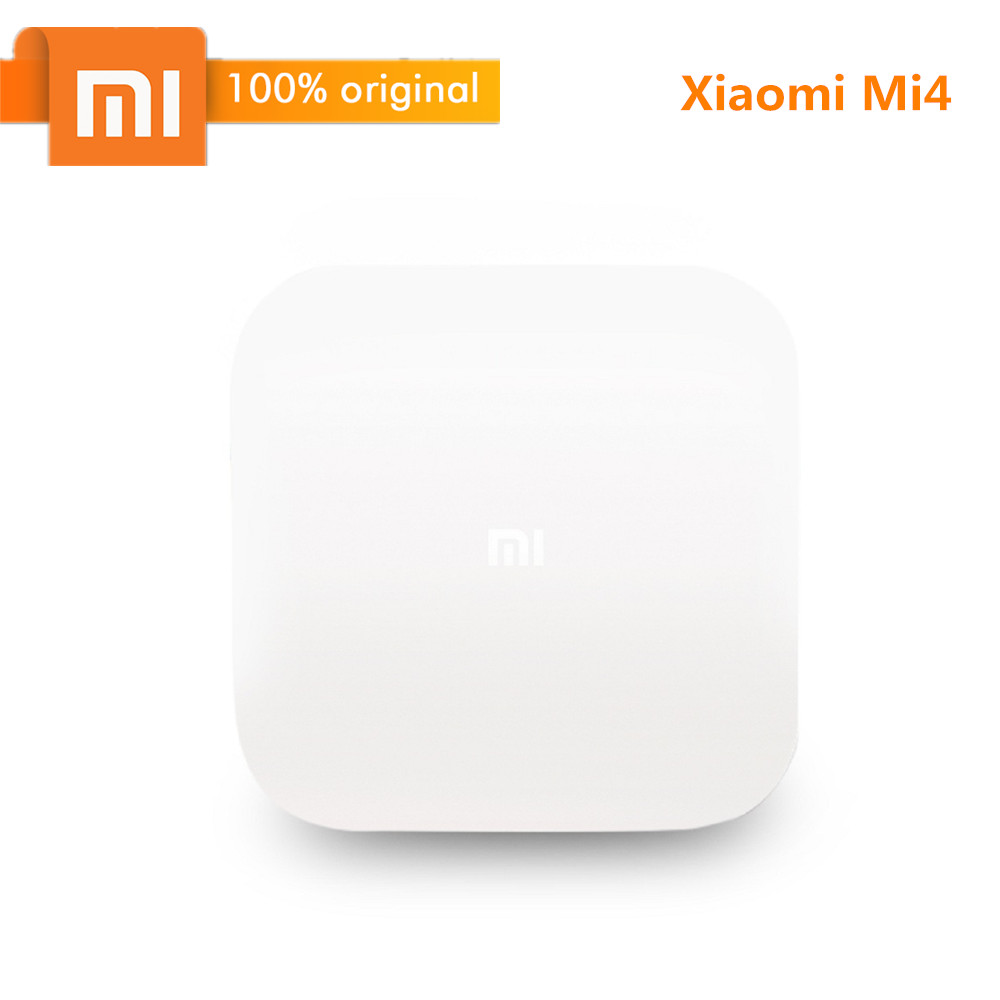 Original Xiaomi Mi4 Smart TV Box Android 5.0 Bluetooth TV Box 4K With Voice Control Amlogic S905L 2GB 8GB 2.4G Wi-Fi EDR H.265 original xiaomi mi4c patchwall tv box 1gb 8gb amlogic s905l 2 4g wi fi bluetooth set top box supports 4k hd smart media player