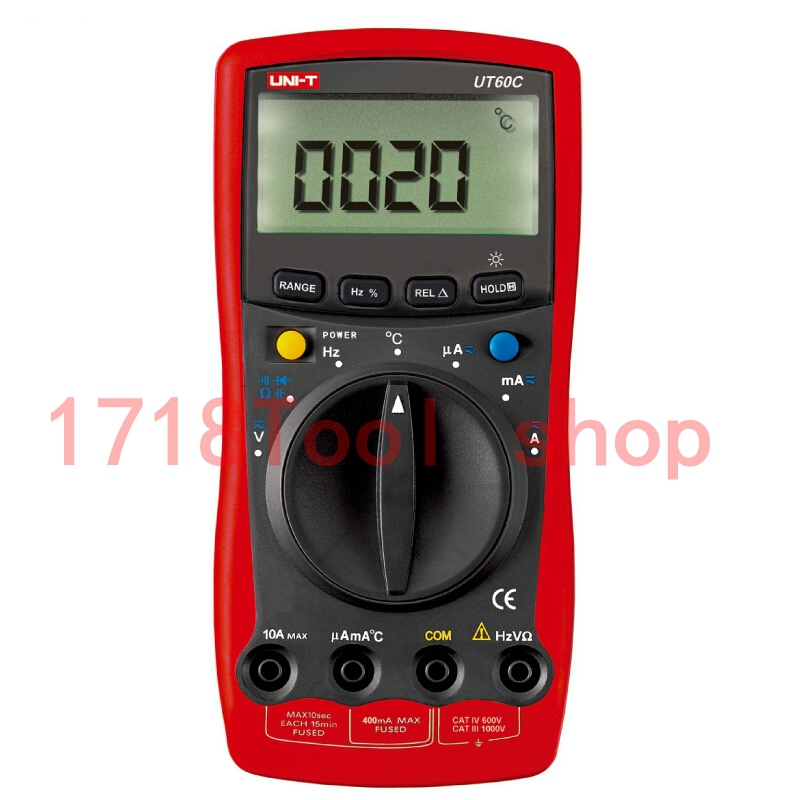 UNI-T UT60C LCR Meter Modern W/ Temperature Test DMM Digital Multimeters Ammeter Multitester with LCD Backlight uni t ut30c original authentic data handed hold digital multimeters temperature test
