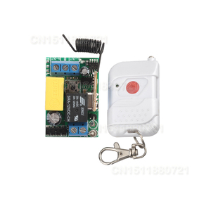 AC220V 1CH 10A RF Wireless Push Remote Control Light Switch Learning Code System Toggle Momentary 315/433.92