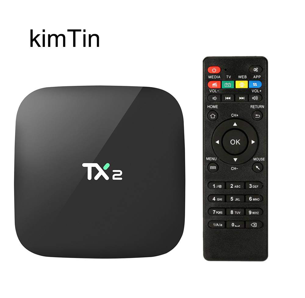 KimTin TX2 Penta Core GPU Smart Android 6.0 Smart Tv Box 2GB RAM 16GB ROM WiFi 4K H.265 HDMI DLNA AirPlay Kodi 16.1 Media Player zidoo a5s android 6 0 smart tv box s905x cortex 64bit 2 0ghz 2g 16g wifi 4k hdmi h 265 eeay cast kodi google play store