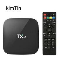 KimTin TX2 Penta Core GPU Intelligent Android 6.0 Smart Tv Box 2 GB RAM 16 GB ROM WiFi 4 K H.265 HDMI DLNA AirPlay Kodi 16.1 Médias lecteur