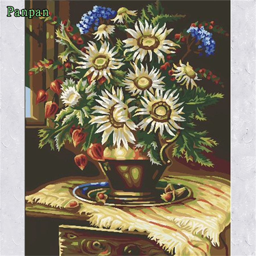 Frameless Canvas Art Oil Painting Flower Painting Design: Aliexpress.com : Buy Painting By Numbers Frameless Diy