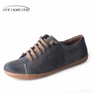 Image 4 - Men flat summer shoes genuine leather barefoot Casual Shoes man Flats ballerinas sneakers Female Footwear spring shoes 2019