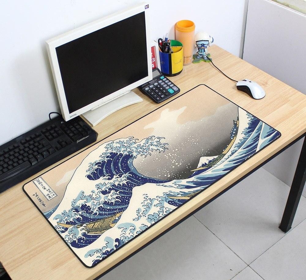 Tapete de mesa de borracha do jogo mousepad da esteira dos teclados da velocidade do grande costume 700x400mm para o jogador do jogo desktop computador portátil
