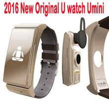 Uwatchuมินิบลูทูธหูฟังสมาร์ทนาฬิกาbt4.0นอนตรวจสอบสายหนังsmartwatchสำหรับiosหุ่นยนต์โทรศัพท์มือถือ