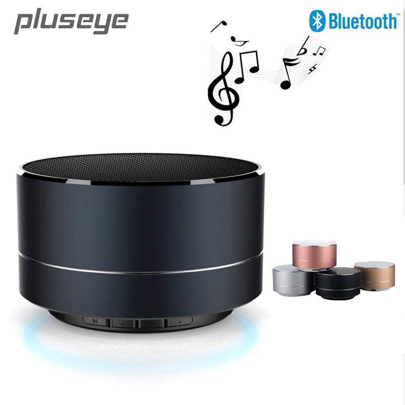 Pluseye wireless bluetooth speaker metal mini portable subwoof sound with Mic TF