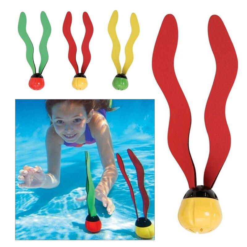 Игрушка для подводного плавания Дайвинг море, трава пластик 3 шт. игрушки для ныряния игра шар для плавания круговая игрушка водные виды спорта горячая Распродажа весло инструмент