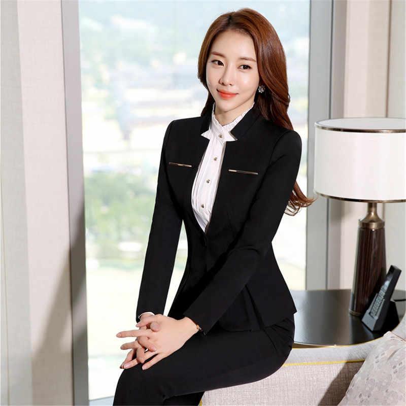81d48a5f0 ... Trajes de pantalón Formal para mujer, pantalones de 2 piezas para  oficina, conjunto de ...