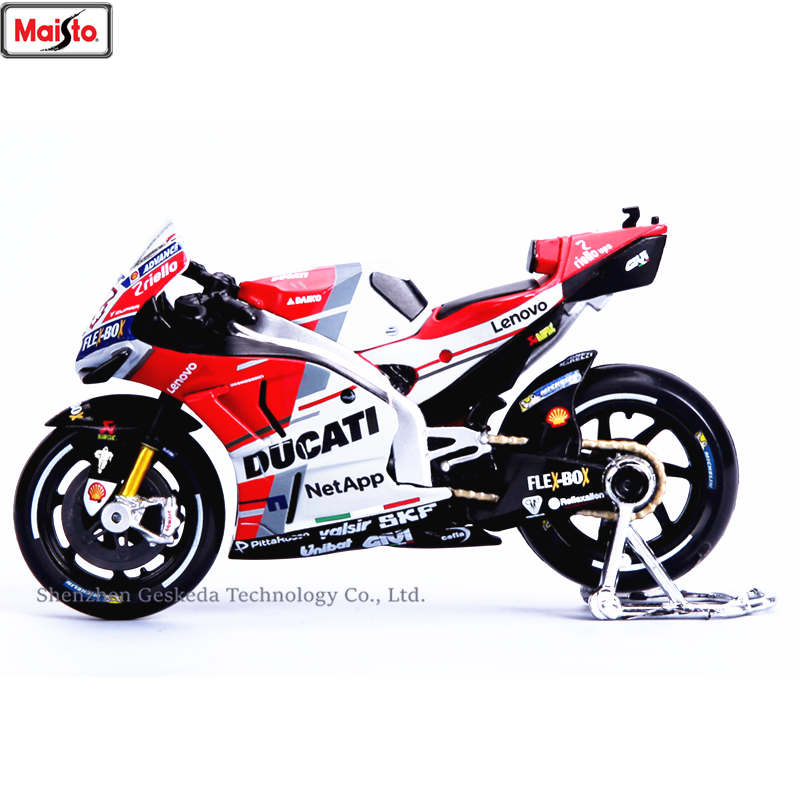 Maisto <font><b>1:18</b></font> Ducati GP2018 Championship Racing Silvardo original authorized simulation alloy motorcycle <font><b>model</b></font> toy <font><b>car</b></font> image