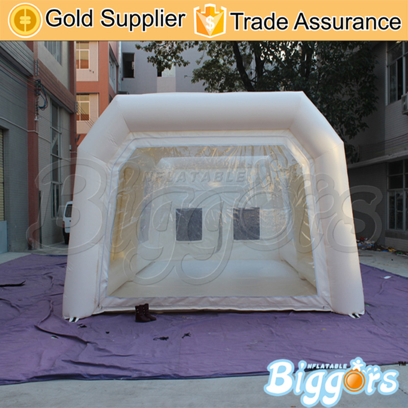 где купить En14960 And CE Certificated Large Portable White Paint Booth Inflatable Car Spray Booth Tent With Flitter And Blowers по лучшей цене
