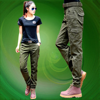 Spring Autumn female Military Army Green Cargo Pants Sportwear Casual Straight Trousers Military Camouflage Pants For Woman