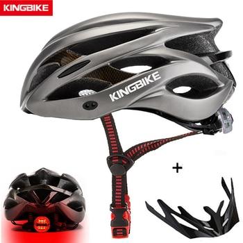 Kingbike quente capacete de bicicleta das mulheres dos homens mtb ciclismo de estrada capacetes ultraleve integralmente moldado eps + pc capacete de bicicleta 1