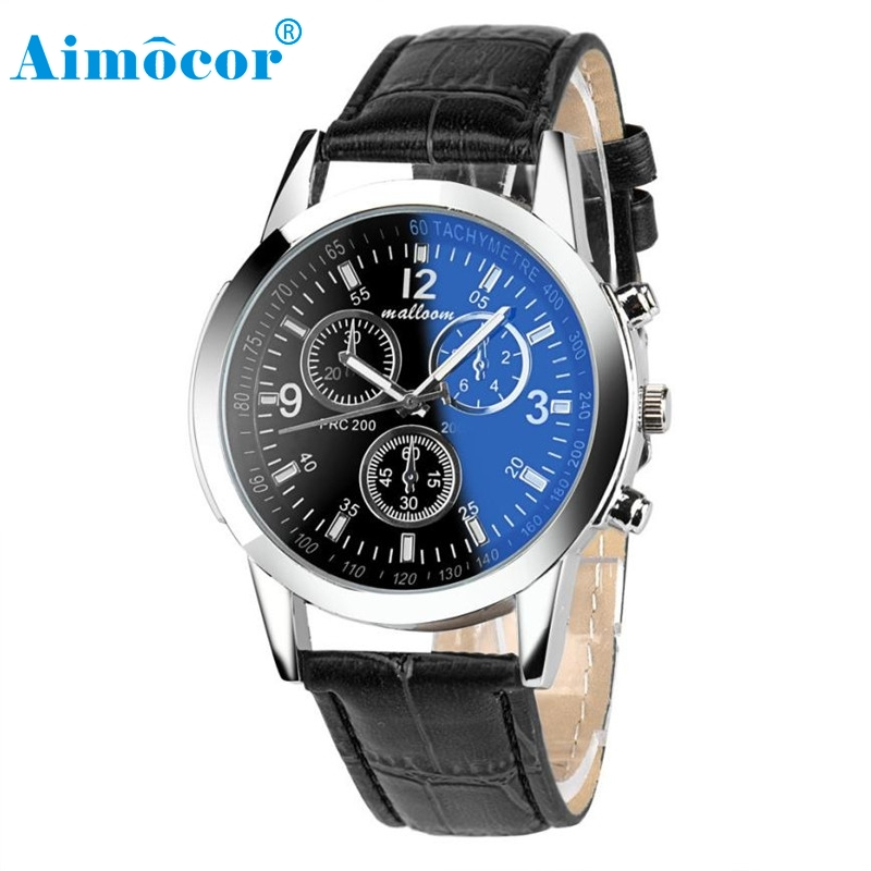 2017 Newly Designed Luxury Fashion Faux Leather Mens Blue Ray Glass Quartz Analog Watches Relojes De Hombre Clock Gift 322 durable men watches luxury fashion faux leather mens blue ray glass quartz analog watches 12 25