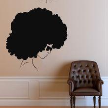 Black Girl Sticker Cool African Woman Face Vinyl Wall Decal Home Interior Decorations Art Bedroom Beauty Salon Hippie Decor AM25 & Hippie Wall Decals Promotion-Shop for Promotional Hippie Wall Decals ...